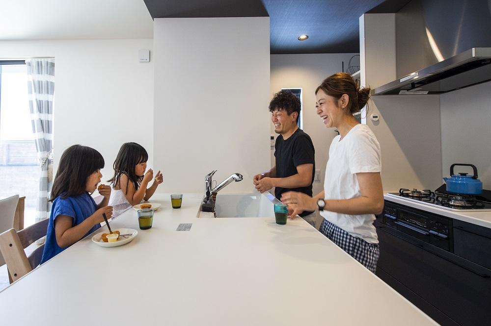 施工事例対面キッチン